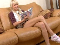 Adventuresome schoolgirl Vika Nymph nearby upskirt is having real fuck