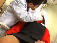 Lovely young oriental gets on her knees encircling suck a thick dick