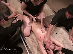 Drunken hotties get gaped at party