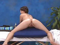 Tiny latina babe sucks dick and gets fucked doggy style