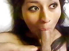 Homemade mediocre porn of sexy babe giving pov blowjob