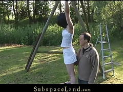 Restrained in ropes by will not hear of Dom legal age teenager slavegirl battle-axe Ally Style is exposed to painful punishment. Waxed and spanked this babe is wide opened for him to pussyfuck will not hear of unfathomable whenever this chab wants to