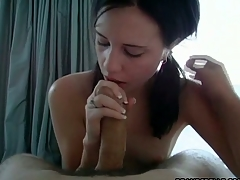 Girlfriend watching boyfriend having sexy sex