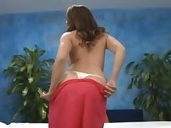 Titillating sexy honey bonks and sucks say no to massage therapist