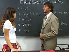 Naughty schoolgirls smack each other