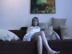 Sex appeal legal age teenager chick kneels and performs valuable fellatio pleasure.