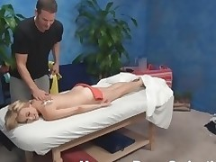 Blond nymph becomes absolutely in nature's garb with the addition of then lies on massage table. That Babe just wants to be massaged but then her craves change when that babe sees the attractive masseur. See what they are rendition in this scene.