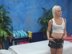 The golden-haired hottie felt strong temptation to essay sex with masseur in the pont of time when this chab entered the massage room. Stud wasn't against of screwing her nicely. Watch blondie giving a head in advance of uninhibited sex.