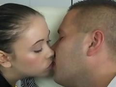 Youthful legal age teenager demonstrates her taut undisturbed cum-hole