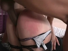 Beauty rides up penis and bounces on it feeling in her anus